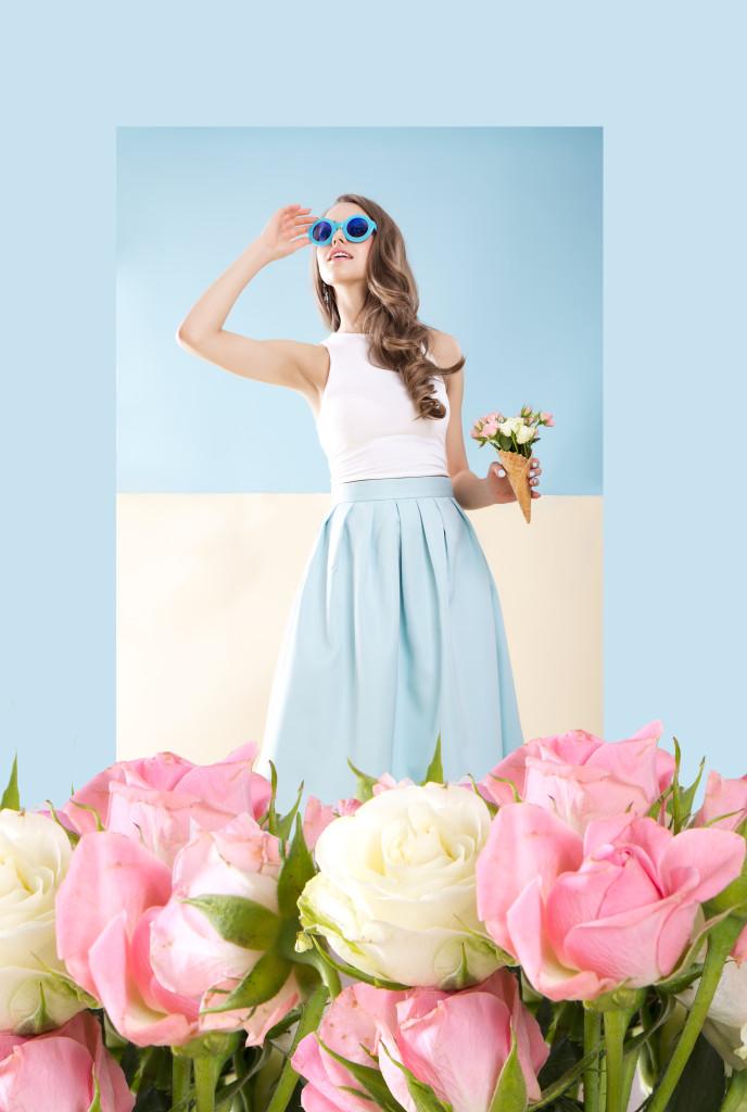 letni brzoskwiniowy makijaż do sesji